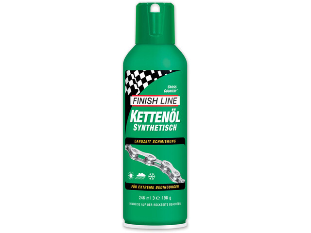 Finish Line Cross Country-kædeolie 246ml Aerosol grøn (2019) | polish_and_lubricant_component